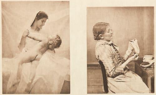 Diptych: Amour maternel & Bien embarrassée (alt) Bovi, Michel  (Italian, b.active 1890s)Schramm, Hans  (Italian, b.active 1890s)