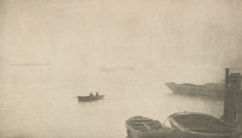 Brouillard sur la Tamise (alt) Robinson, Ralph W.  (English, 1862-1942)