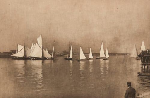 Départ matinal de Régates (alt) Robard, Georges  (French, b.active 1890s)