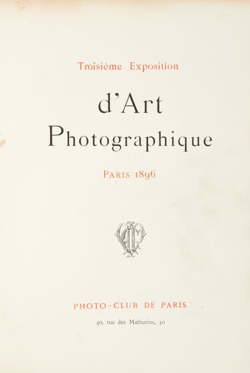 Troisième Exposition d'Art Photographique Various