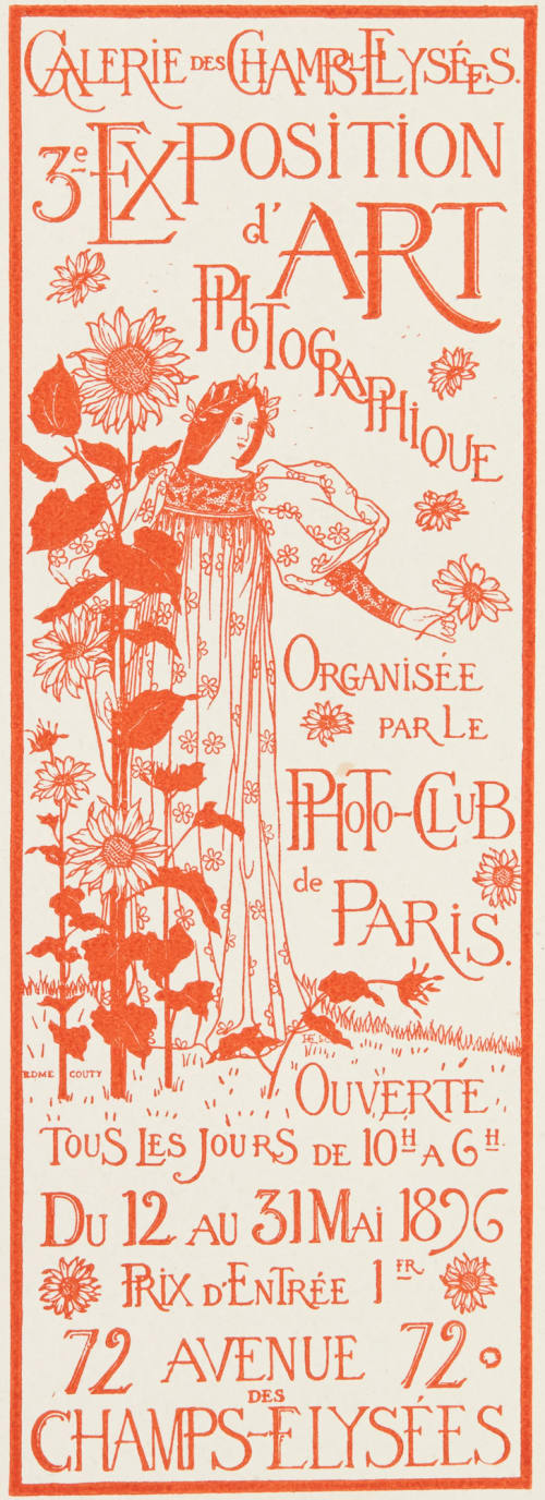 Exhibition Poster by Edme Couty Couty, Edme   (French, b.active 1890s)
