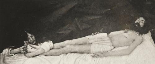 Christ au tombeau Bovier, Léon  (Belgian, b.active 1890s)