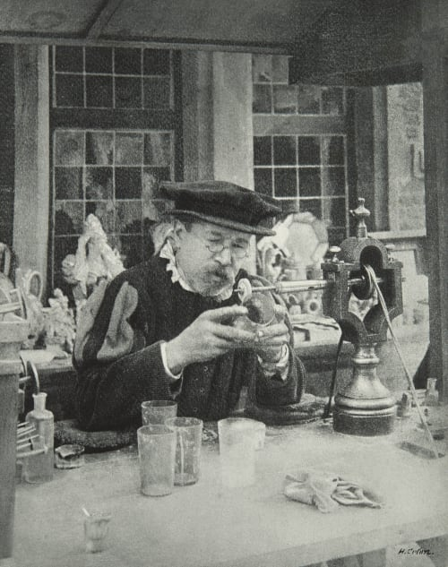 Le Graveur sur verre Colon, H  (Belgian, b.active 1890s)