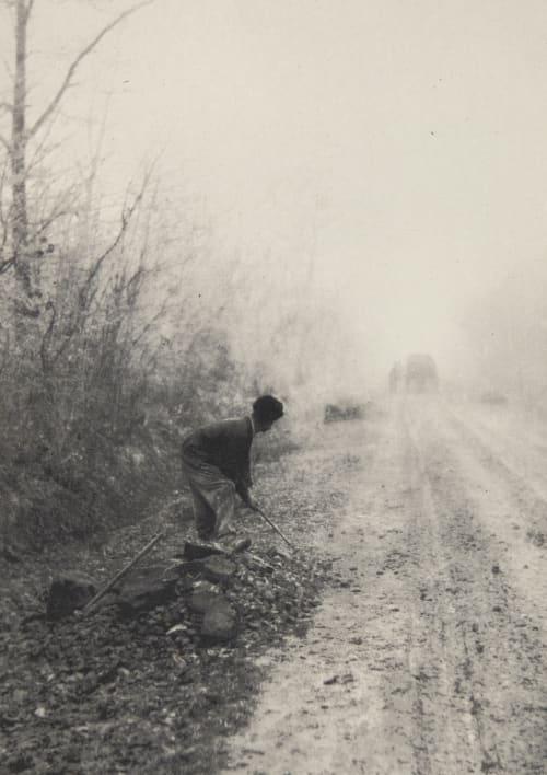 Dans le brouillard Coste, Ferdinand  (French, b.active 1890s)