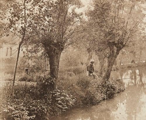 Le Pècheur à la ligne Vanderkindere, Marcel   (Belgian, b.active 1890s)