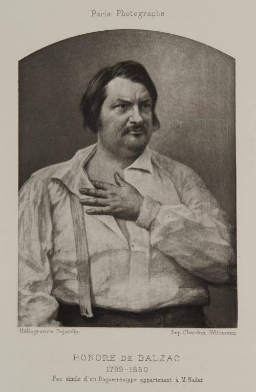Honore de Balzac Bisson, Louis-Auguste  (French, 1840-1876)