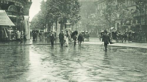 Un Jour de Pluie a Paris Stieglitz, Alfred  (American, 1864-1946)