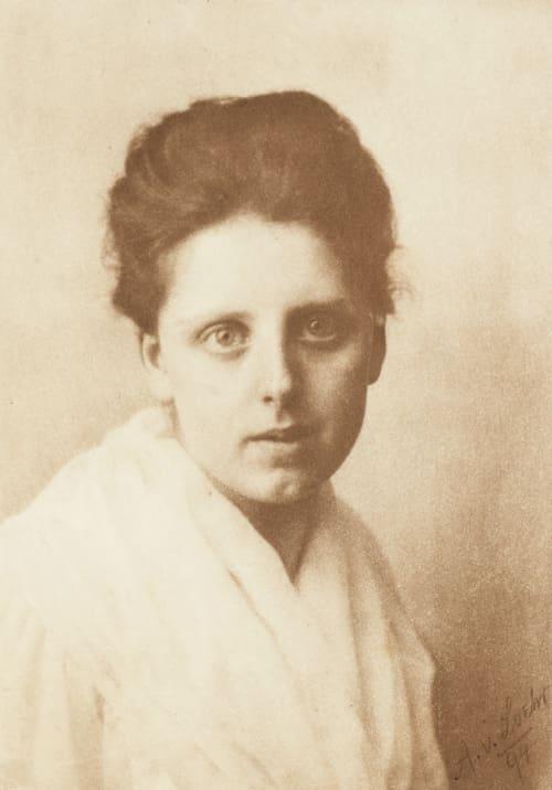 Portrait de jeune fille Loehr, A.R. von