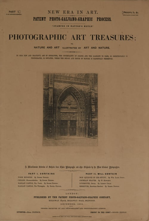 Photographic Art Treasures, Part I (Folio) Fenton, Roger  (British, 1819-1869)