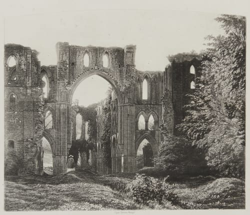 Rivaulx Abbey, the Choir and Transept. Fenton, Roger  (British, 1819-1869)