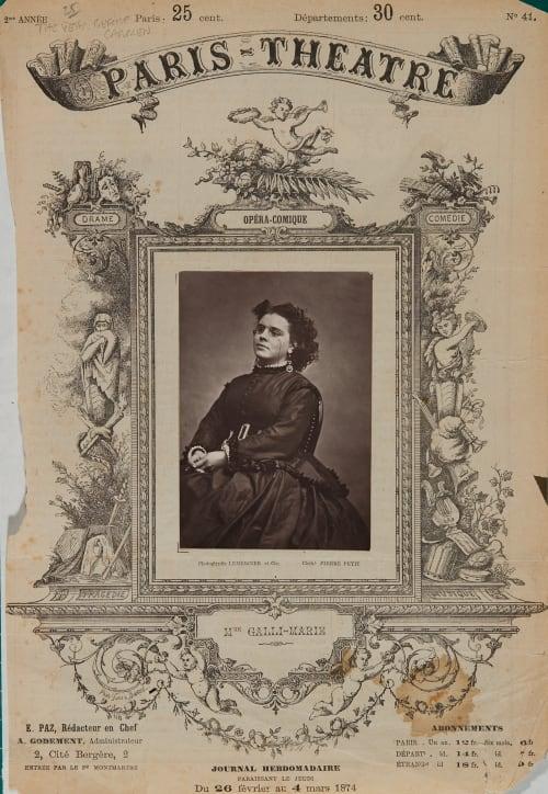 Mme Galli-Marié Pierre Petit  (French, 1832-1909)