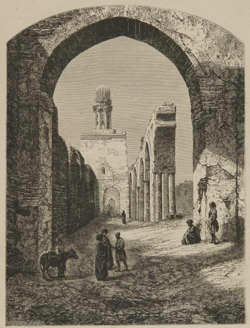 Ruines de la mosquée de Hakim-Biamr-Allah Braun, Adolphe  (French, (1812-1877))