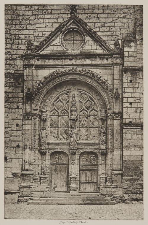 Tours. Portail de L'Eglise Saint Symphorien Bisson, Louis-Auguste  (French, 1814-1876)Bisson, Auguste-Rosalie  (French, 1826-1900)