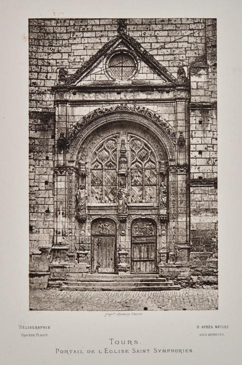Tours. Portail de L'Eglise Saint Symphorien Bisson, Louis-Auguste  (French, 1814-1876)