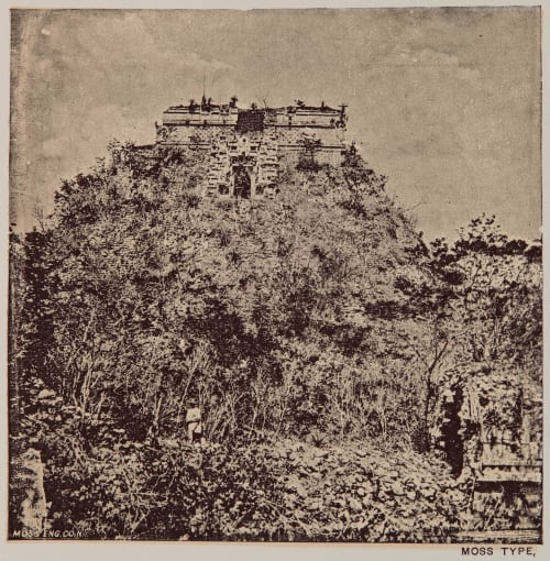 "View of the pyramid called ""House of the Dwarf"" at Uxmal Le Plongeon, Augustus 1826-1908  (b.American)"