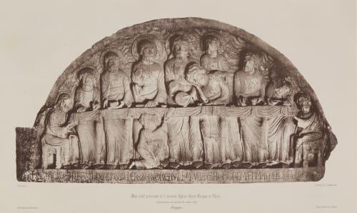 Bas-relief provenant de l'ancienne Eglise Saint-Benigne de Dijon Berthier, Paul Marcellin (likely)  (French, 1822-1912)