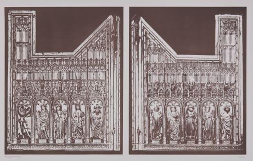 Volets du Rétable D'autel du XIV Siécle, No. 1 Berthier, Paul Marcellin  (French, 1822-1912)