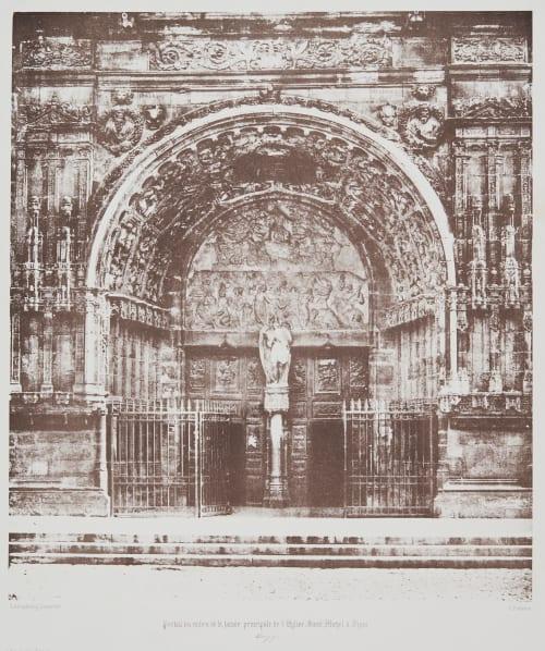 Portail du milieu de la facade principale de l'Eglise Saint Michel à Byon Poitevin, Alphonse  (French, 1822-1912)