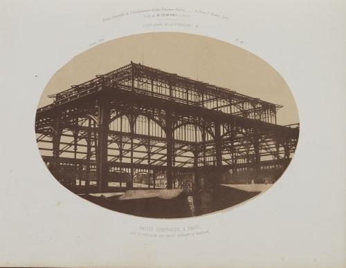 Halles Centrales, A Paris Poitevin, Alphonse  (French, 1822-1912)
