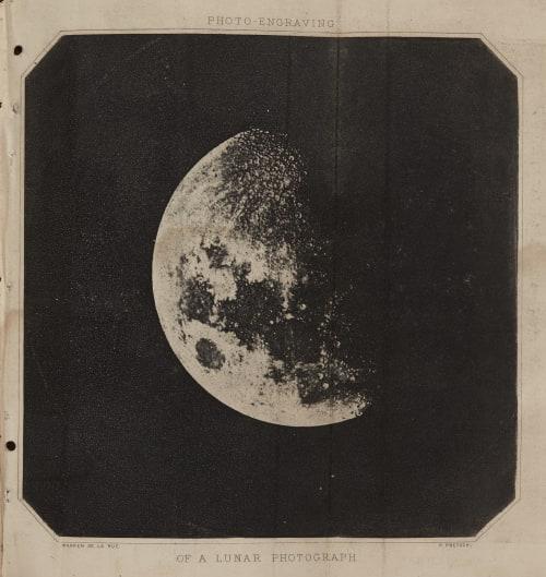 Of a Lunar Photograph Warren De la Rue  (British, 1815-1889)