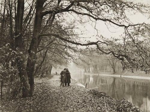 Herbstimmung (Landwehrkanal) Rau, Otto  (German, 1856-1934)