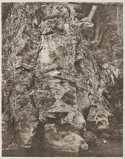 """""""The Rocks Presented a High Impenetrable Wall"""" Edwards, Ernest  (British, 1837-1903)"""