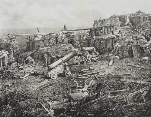 Fig. 59a Interior of the Redan, After the Final Assault Robertson, James  (British, 1813-1888)
