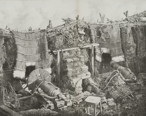 Fig. 38 Interior of the Barrack Battery, Sebastopol Robertson, James  (British, 1813-1888)
