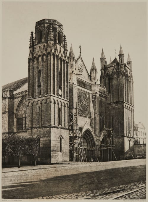 Pointers (Vienne) Cathédral Saint-Pierre Robuchon, Jules Cesar  (French, 1840-1922)