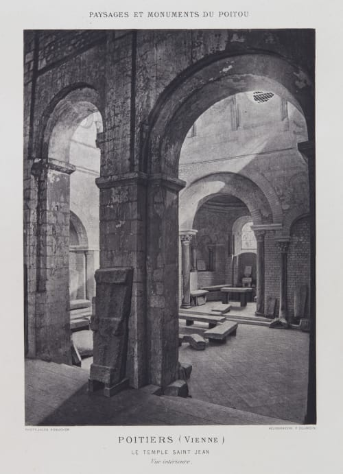 Le Temple Saint Jean (vue intérieure) Robuchon, Jules Cesar  (French, 1840-1922)