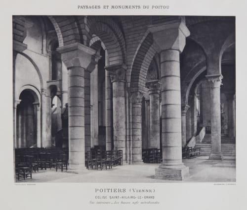 Église Saint-Hilaire-Le-Grand (vue intérieure) Robuchon, Jules Cesar  (French, 1840-1922)