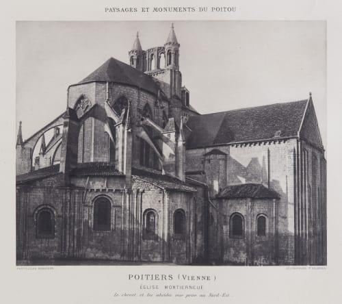 Église Montierneuf Robuchon, Jules Cesar  (French, 1840-1922)
