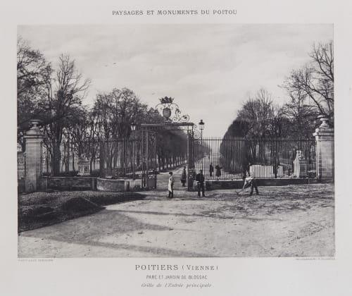 Parc et Jardin de Blossac Robuchon, Jules Cesar  (French, 1840-1922)