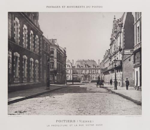 Le Préfecture et La Rue Victor Hugo Robuchon, Jules Cesar  (French, 1840-1922)