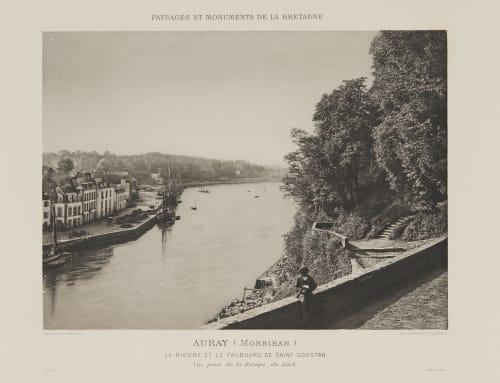 Pl. 5 La Rivière et Le Faubourg de Saint Goustan Robuchon, Jules Cesar  (French, 1840-1922)