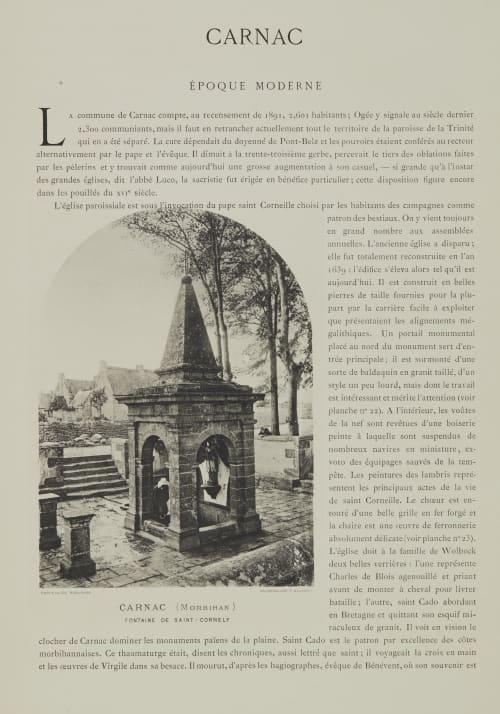 Carnac / Époque Moderne Robuchon, Jules Cesar  (French, 1840-1922)