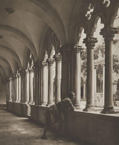 Kreuzgang des Dominikanerklosters in Ragusa. Rothschild, Nathaniel Mayer von  (Vienna, 1836-1905)
