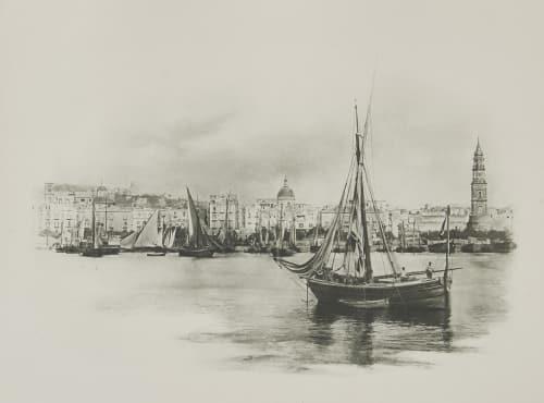 Alter Hafen von Neapel. Rothschild, Nathaniel Mayer von  (Vienna, 1836-1905)
