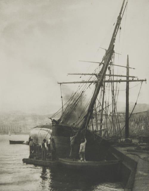 Calfatern Eines Schooners Im Hafen von Messina. Rothschild, Nathaniel Mayer von  (Vienna, 1836-1905)