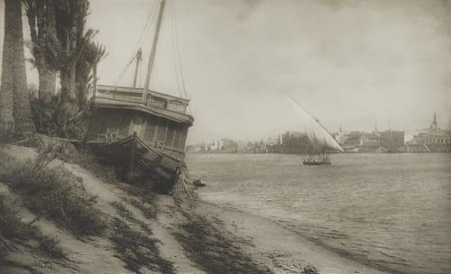 Am Nil Bei Cairo. Rothschild, Nathaniel Mayer von  (Vienna, 1836-1905)