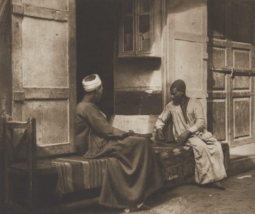 Im Bazar von Cairo. Rothschild, Nathaniel Mayer von  (Vienna, 1836-1905)