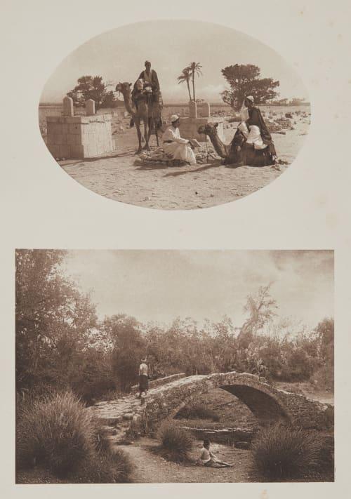 Arabischer Friedhof Bei Den Pyramiden von Gizeh /  Gegend Bei Mamariza (Kleinasien). Rothschild, Nathaniel Mayer von  (Vienna, 1836-1905)