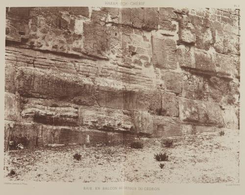 Baie en Balcon Au Dessus Cedron Salzmann, Auguste  (French, 1824-1872)