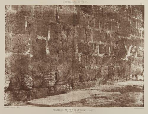 Fouilles au Pied dela Triple Porte Salzmann, Auguste  (French, 1824-1872)