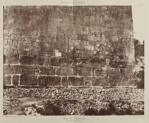 Mur de Manasses Salzmann, Auguste  (French, 1824-1872)