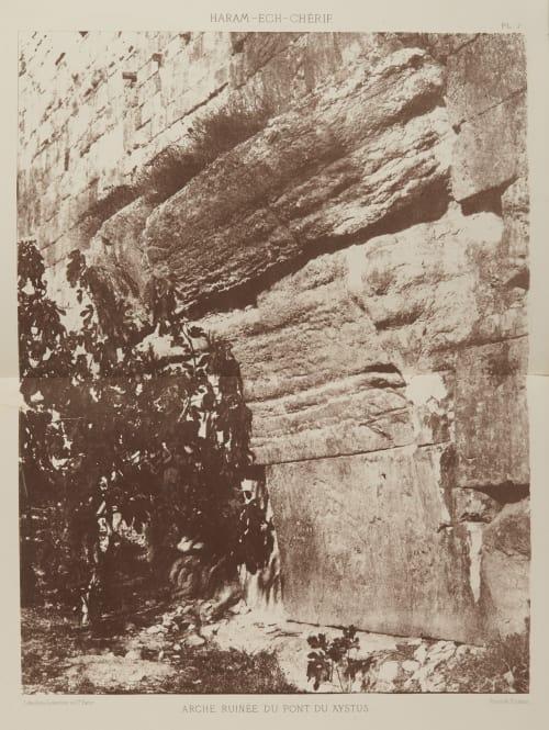 Arche Ruinee du Pont du Xystuus Salzmann, Auguste  (French, 1824-1872)