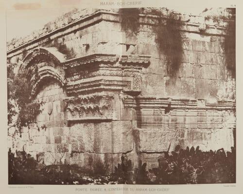 Porte Doree, A L'Interieur du Haram-Ech-Cherif Salzmann, Auguste  (French, 1824-1872)