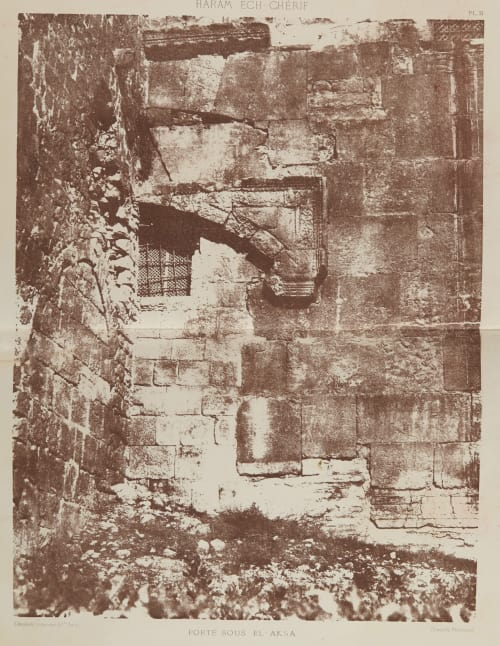 Porte Sous El-Aksa Salzmann, Auguste  (French, 1824-1872)