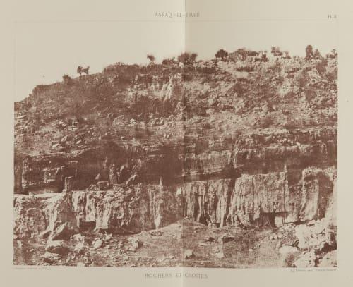 Rochers et Grottes Salzmann, Auguste  (French, 1824-1872)