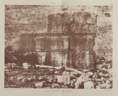Angle Nord-Est du Temple Salzmann, Auguste  (French, 1824-1872)